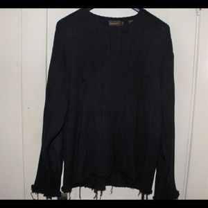 Distressed black Knit Sweater TImberland